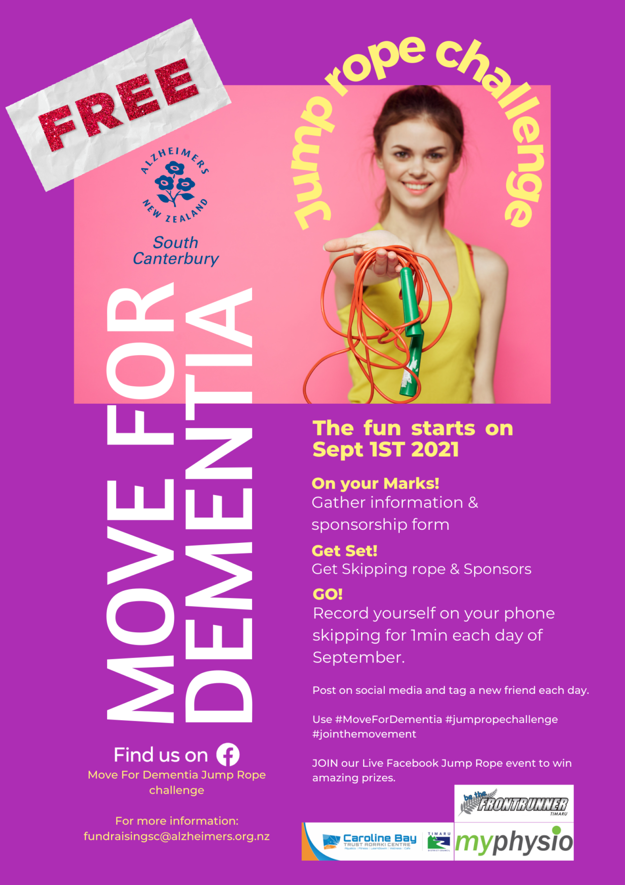 Move For Dementia with Jump Rope & Step Count Challenge Post Cover Image