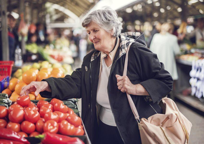 Woman vegetable shopping