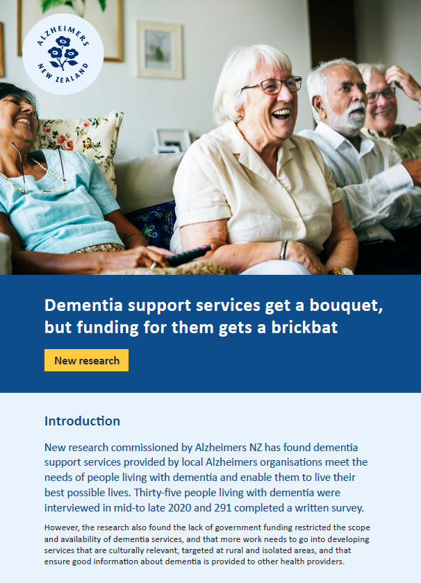 Evaluation of services for people living with dementia Thumbnail Image
